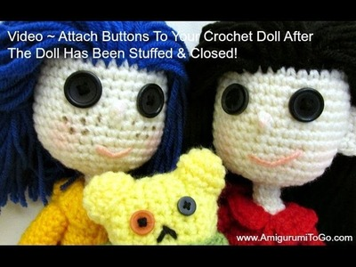 Add Buttons To Crochet Doll
