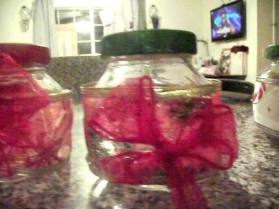 Chrismas DIY homemade gift idea cute little jars