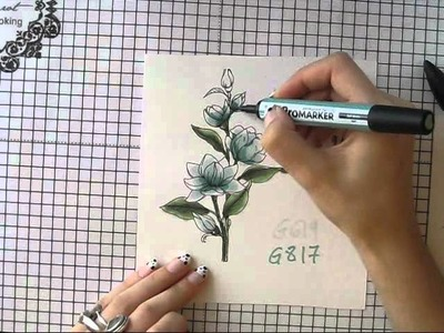 Copic &  Promarker card tutorial