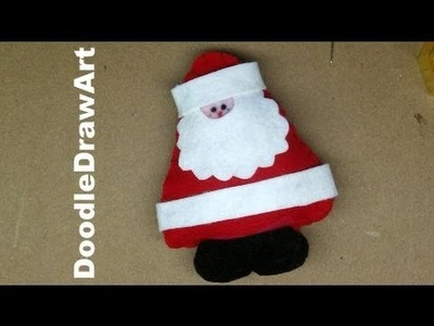 Craft: Stuffed Toy. Christmas Tree Ornament - Make Santa Claus!