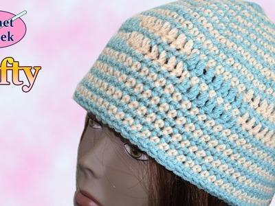 Crochet Geek Beanie Hat Left Hand
