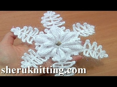 Crochet Snowflake Tutorial 9 Part 2 of 2 Christmas Ornaments