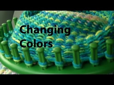 Crocheting with Boye Round Looms - Part Two - Changing Colors