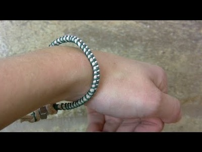 DIY: Beaded Leather Woven Bracelet