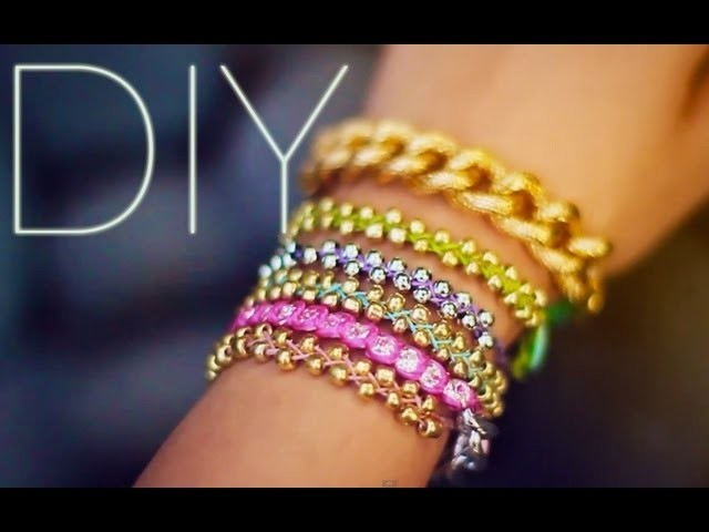 DIY Beaded Stackable Bracelets {EASY}