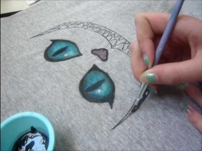 DIY- Cheshire (from Alice in Wonderland) tee-shirt