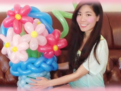 DIY Flower Balloon Art Tutorial - Gift idea for Mother's Day