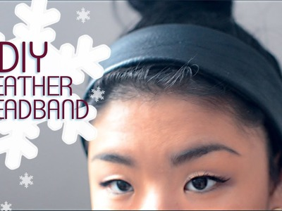✂ DIY Leather Headband