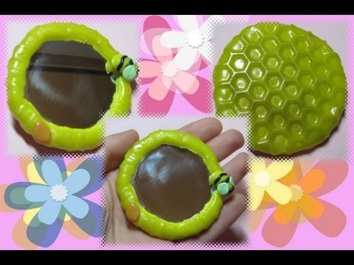 DIY Polymer clay: little mirror. tutorial specchietto decorato!