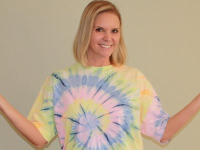 DIY Refashion Tshirts to Drawstring Dress