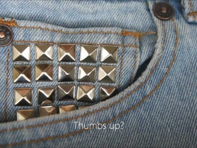 DIY Stud Denim Shorts tutorial (easy)