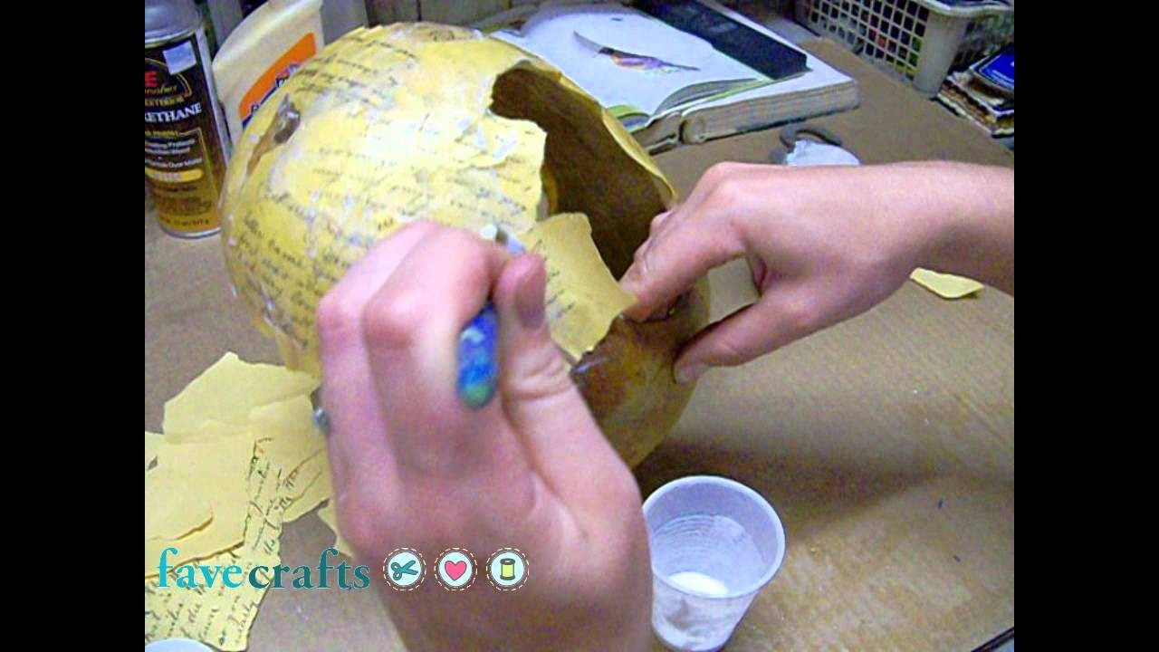 Gourd Crafting Project: How to Make a Decoupaged Bird Feeder with a Robin Motif
