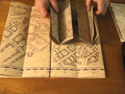 Harry Potter Film Wizardry book marauder's map comparison