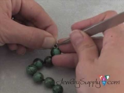How to Attach clasps to knotted strands