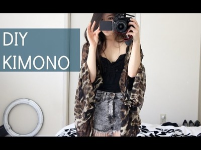 How to DIY A Scarf In to A Kimono! (No-Sew)