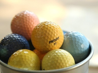 How to Dye Golf Balls Yourself || KIN DIY