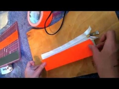 How to make a duct tape clutch with a zipper