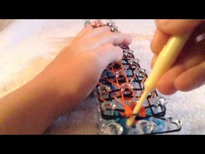 How to make the new tiger strip rainbow loom rubber band bracelet ENJOY