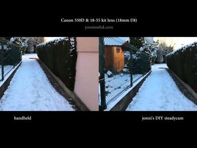 Jonni's DIY steadycam - test 001 - difficult conditions