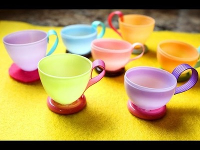 (Let's have a tea party!) How to make teacups using plastic easter eggs