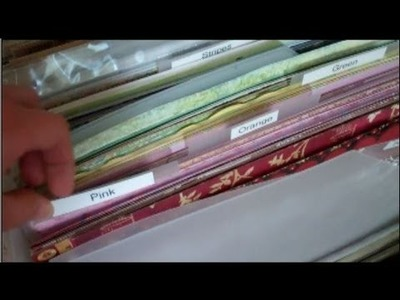 Organizing Patterned Paper by Use It Scrapbooking
