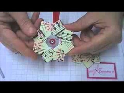 Stamping T - Origami Wreath Ornament