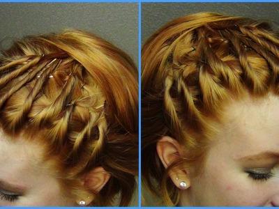Twisted Short Hair Tutorial!