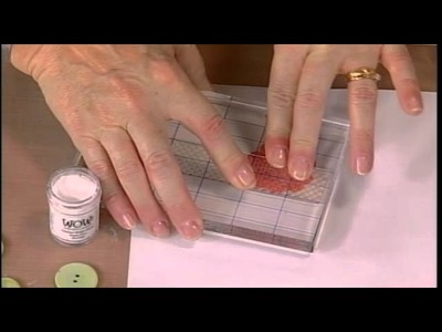 205-4 Marion Emberson enhances 3D embellishments with embossing powder on Scrapbook Soup