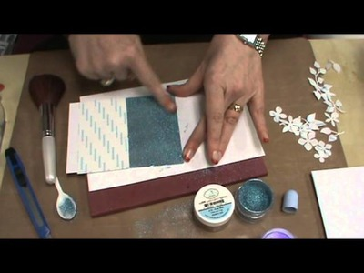 #86 Masking & Stamping with Silk Glitter & Indigo Blu Stamps by Scrapbooking Made Simple