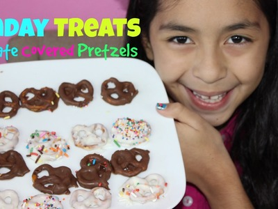 Chocolate Covered Pretzels -Sunday Treats -Easy Quick Recipes for Kids