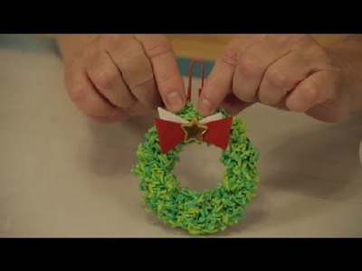 Christmas Tree Wreath Craft Made With Glue & Rice : Christmas Crafts