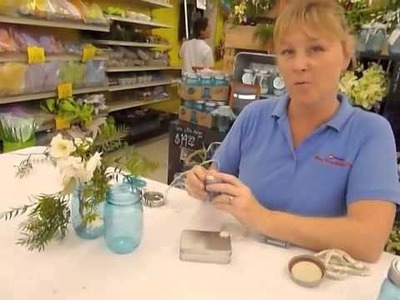 Crankin' Out Crafts -ep271 Heritage Blue Mason Jar - Firefly Centerpiece