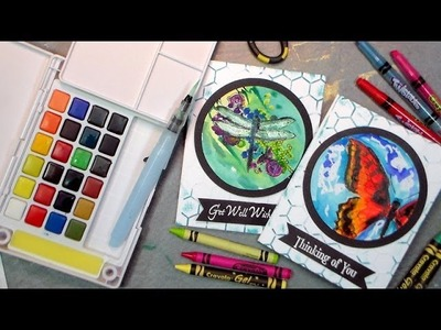 Crayon and Watercolor Greeting Cards {This is literally a HOT craft!)