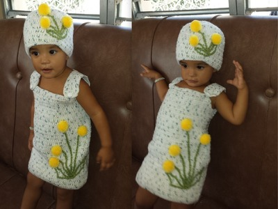 Crochet Girls Dress From 1 to 2 Years.