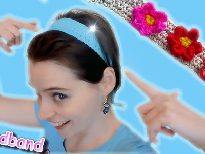 Crochet Hair Band with Ties! - Great for beginners EASY