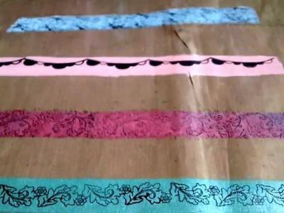 DIY Acrylic Paint Washi Tape