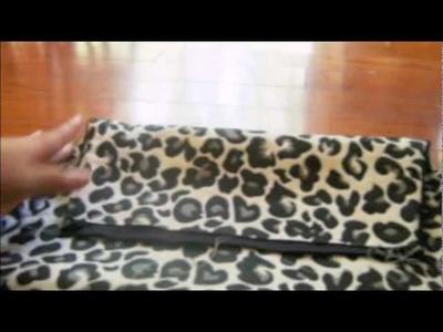 DIY: B.W Fabric Cheetah Clutch