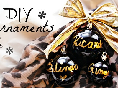 DIY Christmas Ornaments Collab with MsBtrendy