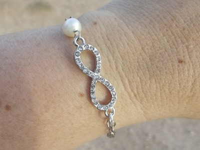 DIY:Easy Infinity Bracelet with Pearl