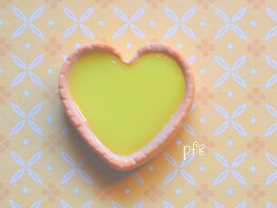 DIY ♡ Egg Tart Polymer Clay Magnet Tutorial
