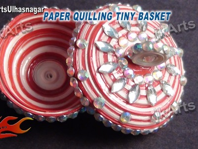 DIY How to make Paper Quilling Tiny Basket JK Arts 394