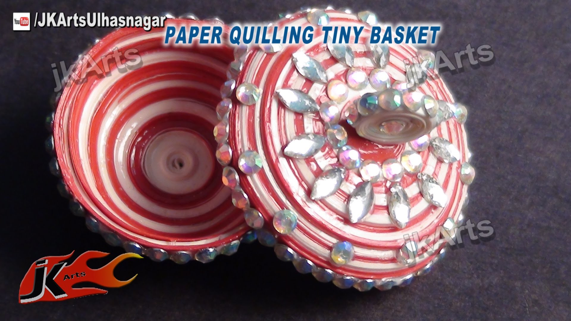 DIY How to make Paper Quilling Tiny Basket JK Arts 394