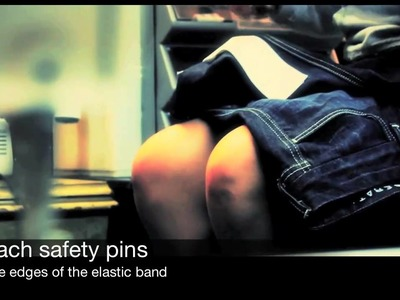 DIY: Make Flared Jeans into Elastic Cuffs