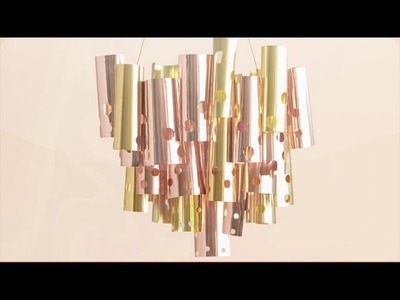 DIY Metallic Chandelier - Martha Stewart Weddings