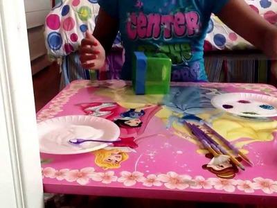 DIY mod podge or glue glitter craft bank