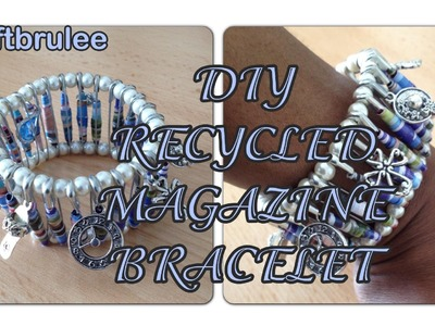 DIY: Recycled Paper Magazine Bracelet - Sustainable Patch