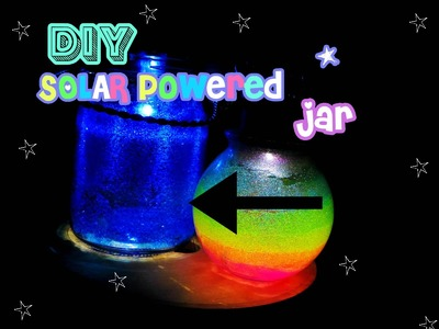 DIY Solar Fairy Light Jar