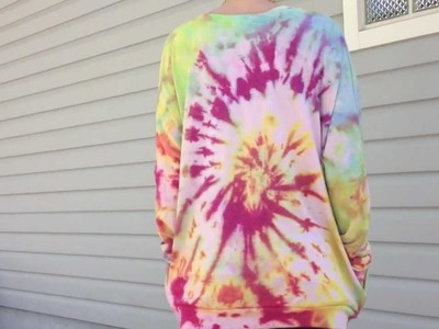 DIY: Tye-Dye Sweater  (how i re-vamp my clothes)