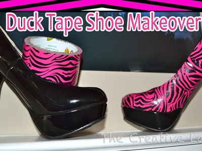 DuckTape® Shoe Makeover: Pink Zebra | The Creative Lady DIY