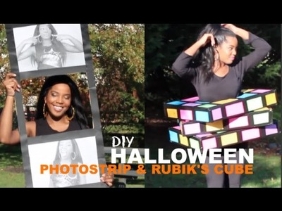 Easy DIY Halloween Costume | Photo Strip & Rubik's Cube